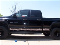 Black Ram w/ Large Skull Rocker Stripes Full Color Side Decal