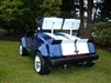 "Blue Golf Cart w/ White 11"" Rally Stripes"