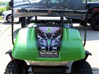 "Green EZGO Golf Cart w/ Bright Green 19"" Adrenaline Rush Stripe Decal"