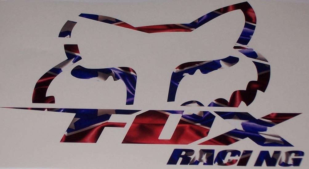 Alternative Views & REBEL FLAG FOX Racing Slant Decal