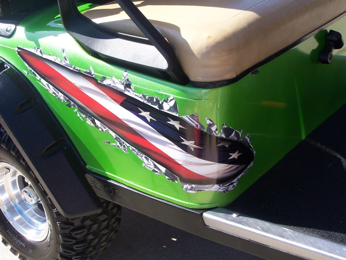 Golf Cart Rip Metal Full Color Graphics Set