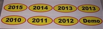 Used Car dealer Year Window Decal sets