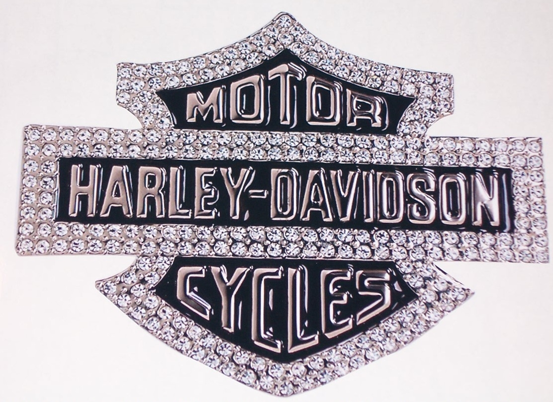 Harley davidson bling full color window or wall 8 x 10 decal sticker