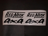 Red Neck 4X4 Decals Sold Decal