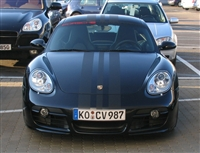 "Black Porsche w/ Black Carbon Fiber 18"" Wide Rally Stripe Set"