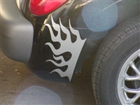 Black PT cruiser w/ Silver Rear Fender Flame Set