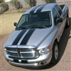 "Silver Truck w/ Black 10"" Rally Stripes With .5 Space and .5 stripe"