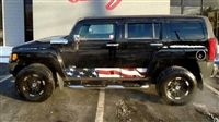 Black Hummer H3 w/ American Flag Side Rocker Stripe Graphics