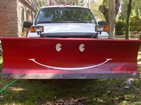 Red Snow Plow w/ Gold Smiley