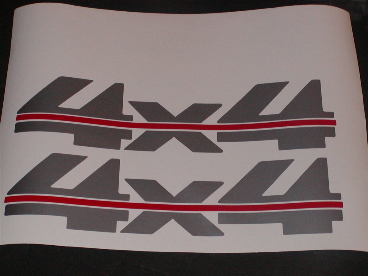 4 X 4  Rip In Red Full Color Decal Pair #2 2 Decals