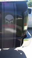 Printed Carbon Fiber Punisher Skull Truck Decal