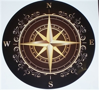 Rose compass Decal