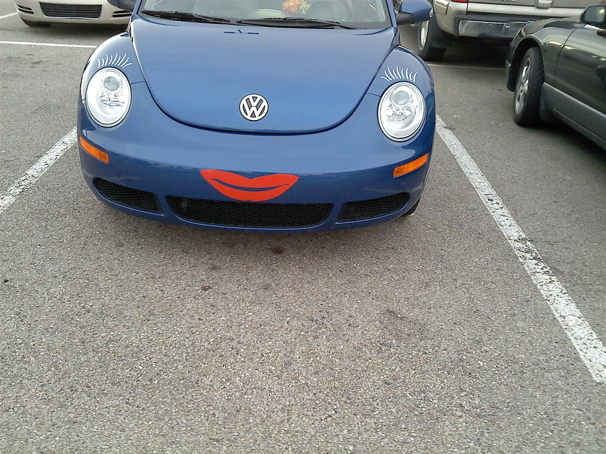 Vw Beetle Bug Smile Face Eye Lashes And Lips Graphics