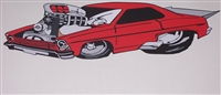 66-67 Blown Pro Street Chevy II Nova Wall decal