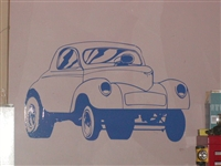 40's Willys or Ford Street Rod Wall Decal
