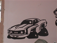69 Camaro Wall  Decal