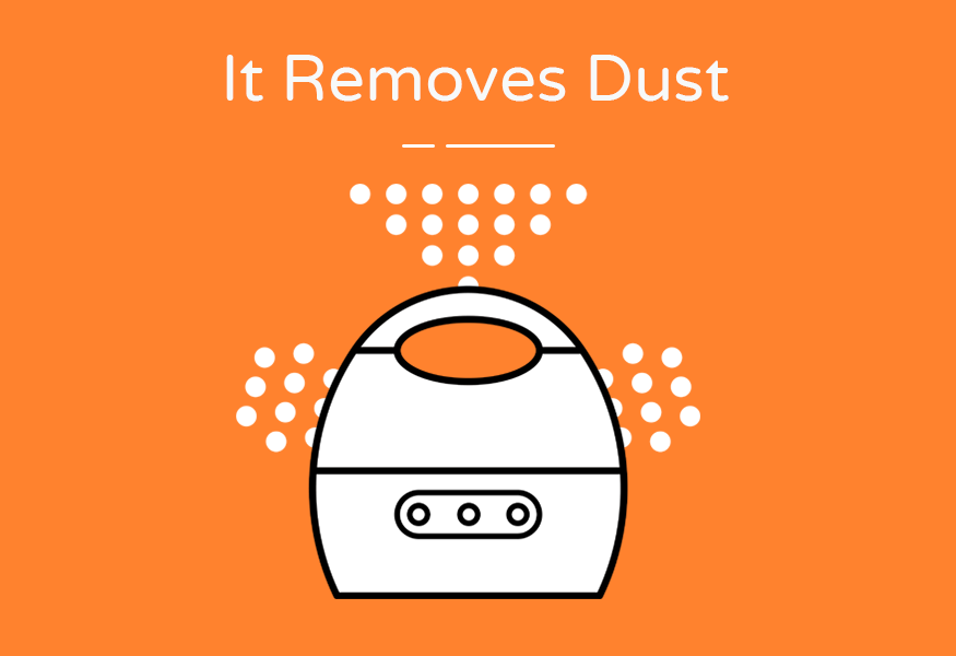 removes dust