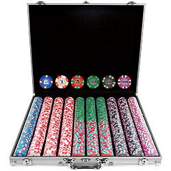 1000 NexGen PRO Denominated Poker Chip Set with Aluminum Case