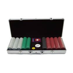 500 Suited Design Poker Chip Set with Aluminum Case