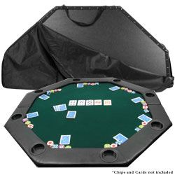 "52"" Octagon Padded Poker Tabletop Green"