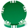 5 Spot Blank Poker Chips - Green