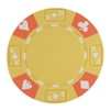 Tri-Color Ace King Suited Poker Chips - Yellow