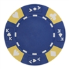 Tri-Color Ace King Suited Poker Chips - Blue