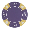 Tri-Color Ace King Suited Poker Chips - Purple