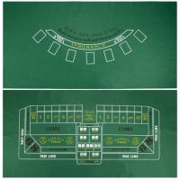 "32""x72"" Blackjack and Craps 2 Sided Layout"