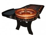 8' Roulette Table with Mahogany Edging