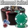 200 Diamond Suited Poker Chip Set with Carousel