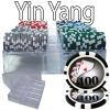 200 Yin Yang Poker Chip Set with Acrylic Tray