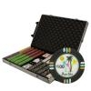 1,000 Desert Heat Poker Chip Set with Rolling Case