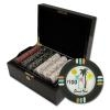 500 Desert Heat Poker Chip Set with Black Mahogany Case