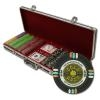 500 Gold Rush Poker Chip Set with Black Aluminum Case