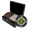 500 Gold Rush Poker Chip Set with Black Mahogany Case