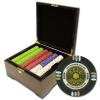 750 Gold Rush Poker Chip Set with Mahogany Case