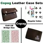 Copag 1546 Green/Blue Bridge Regular Leather Case