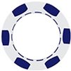 6 Stripe Poker Chips