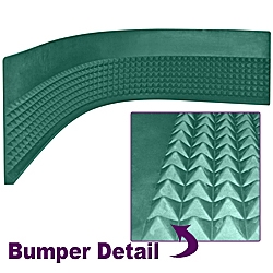 Craps Diamond Pyramid Bumper Rubber - 4 foot strip
