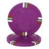 12 Stripe Poker Chips - Purple