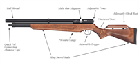Orion PCP Air Rifle  .25