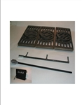 #238FD Soft Coal Shaker Grate w/Spinner Knob Fire Door