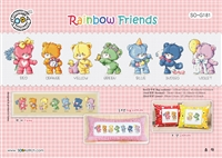 SO-G181 Rainbow Friends Cross Stitch Chart