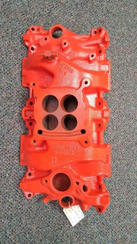 1966 Intake Manifold  Cast Iron  327    300hp Original Gm