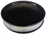 1966 - 1972 Chevelle / Nova BLACK Open Element Air Cleaner Assembly with Base, Black Lid, and Filter