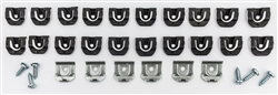 1964 - 1967 Chevelle Windshield Chrome Moulding Clips Set, 32 Pieces