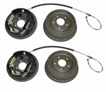 1968 - 1974 Nova Brake Assemblies, Rear Drums WITHOUT Splash Shields, LH and RH