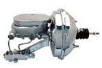 "1966 - 1972 Chevelle or 1968 - 1977 Nova Chrome 9"" Brake Booster, Master Cylinder, and Proportioning Valve Kit, DISC / DRUM"