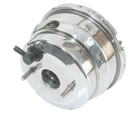 1964 - 1972 Chevelle Nova Power Brake Booster, 8 Inch Dual Diaphragm, Polished Stainless Steel